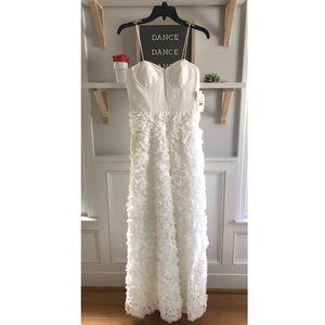 Aidan Mattox Bustier Rosette Wedding Gown